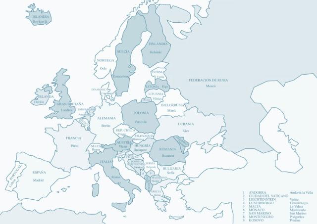 la maleta de una au pair mapa europa