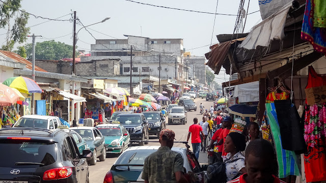 In the center of Brazzaville is a busy place