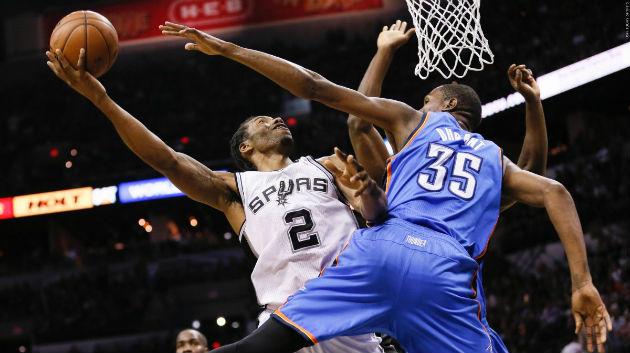 Cette nuit, le match dans le match verra s'opposer Kawhi Leonard (San Antonio Spurs), et Kevin Durant (Oklahoma City Thunder), les deux ailiers de cette rencontre