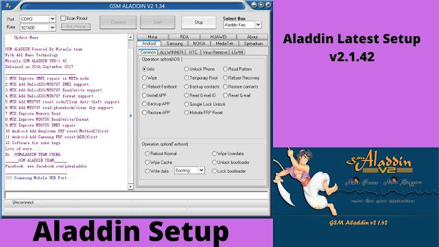 Gsm Aladdin Latest Setup v2.1.42