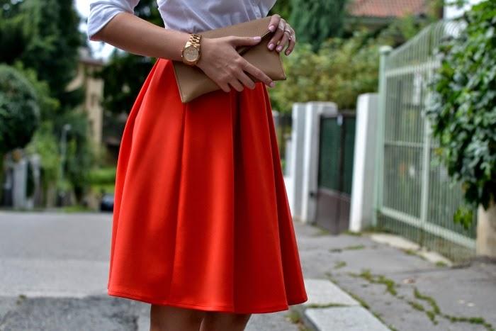 735786b4d21 Tuto červenou sukni jste mohli vidět již na Instagramu a jsem ráda