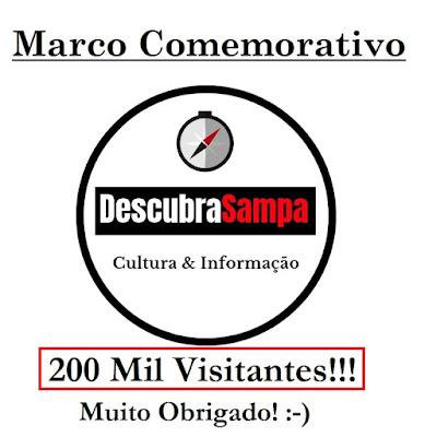 Marco Comemorativo 200 Mil Visitantes no Descubra Sampa