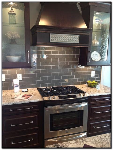 black kitchen countertops with backsplash