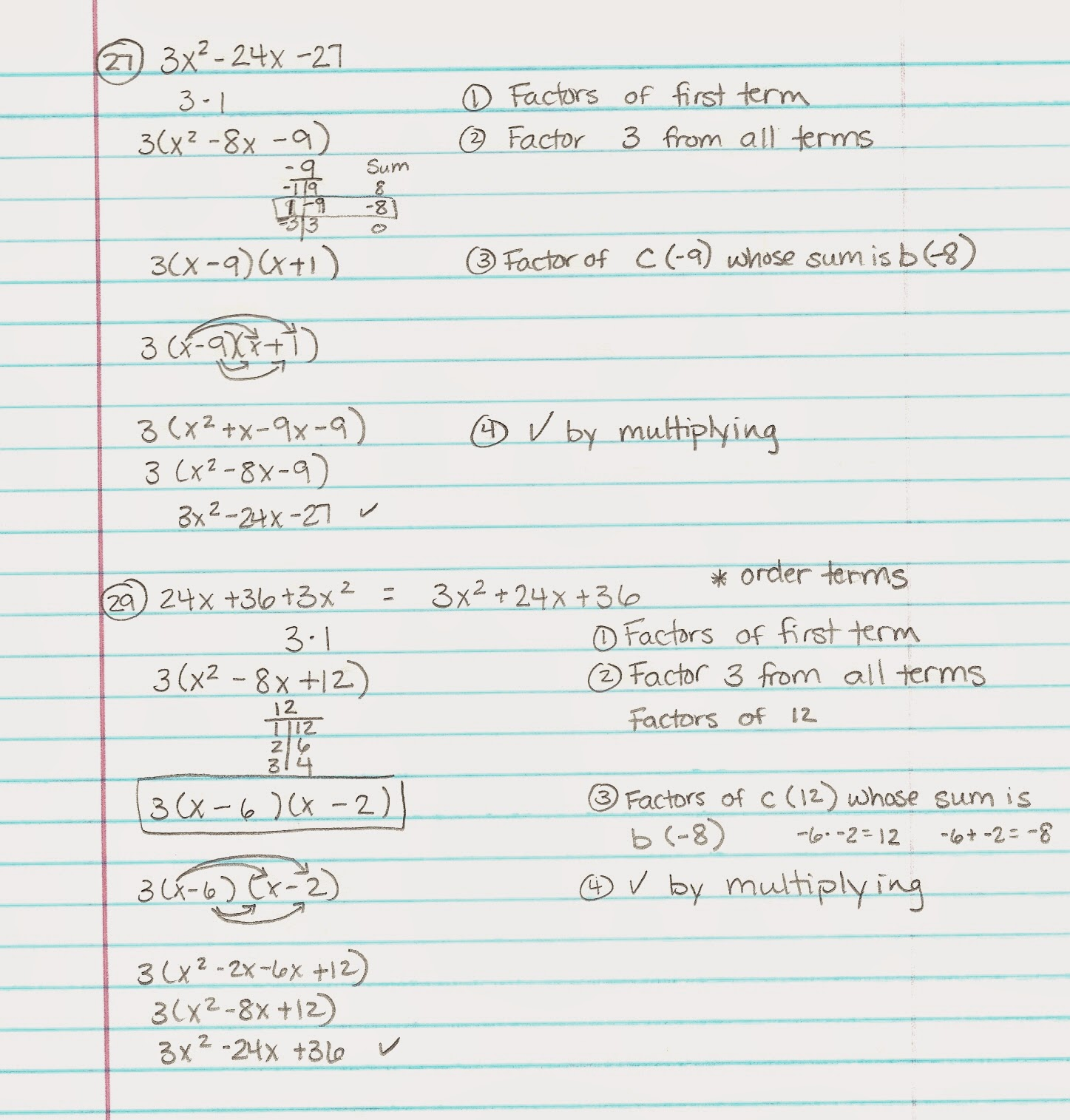 Algebra Alerts (Algebra 1 and 2): Algebra 1: Lesson 10 2 Notes & HW