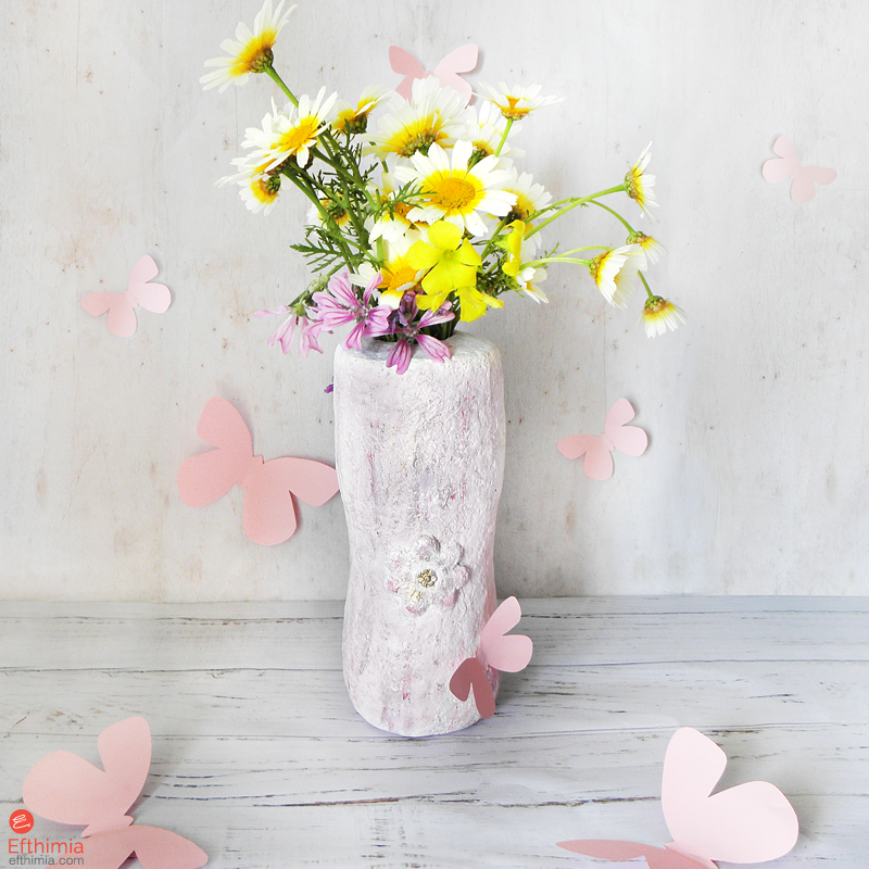 Efthimia Recycled Flower Vase For Spring