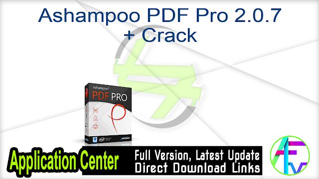 Ashampoo PDF Pro 2.0.7 + Crack