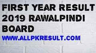 First year result 2019 Rawalpindi Board