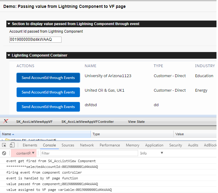 Salesforce Stuff: Firing Event from Lightning Component and