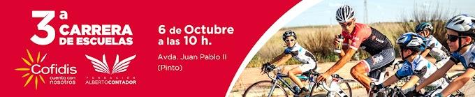 La tercera edición de la Carrera de Escuelas Cofidis de la Fundación Alberto Contador será el 6 de octubre
