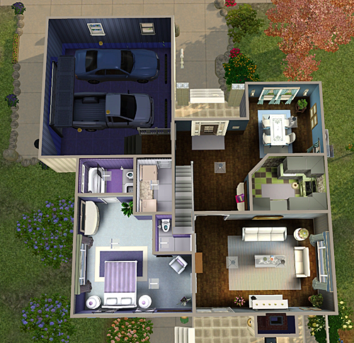 My Sims 3 Blog: 4 Bedroom 3 Bath House By Chellemh29