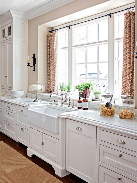 Kitchen Window Sill Ideas: Modern Furniture: 2013 White Kitchen Decorating Ideas From BHG