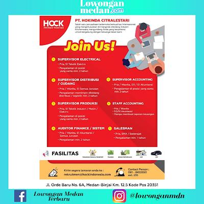 Lowongan Kerja Juni 2020 di PT. Hokinda Citralestari Medan
