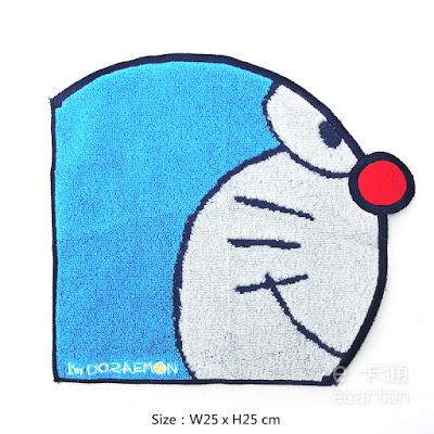 日本限定哆啦a夢卡通圖案方巾手帕