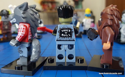 LEGO minifigure Monster Rocker Werewolf Square Foot Sasquatch