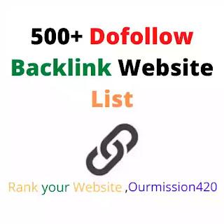 Dofollow backlink  list