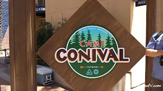 Camp Conival sign welcoming you