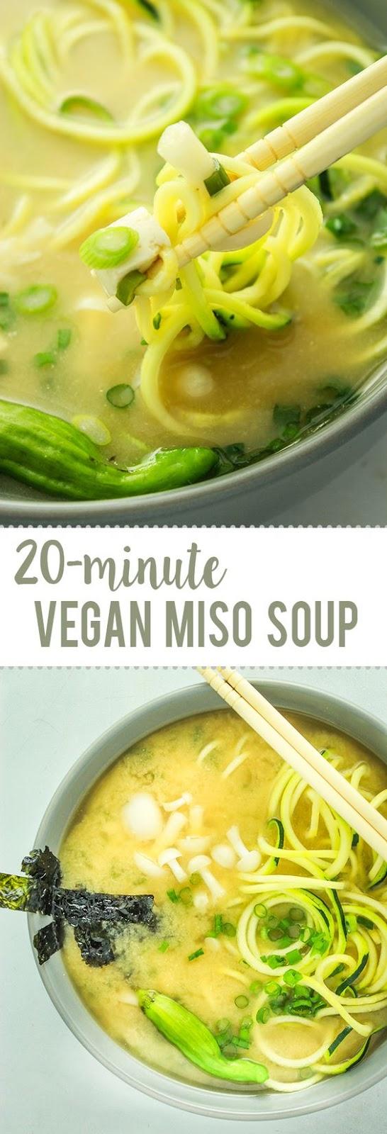 Easy Vegan Miso Soup #easyveganrecipes #vegan #veganrecipes #miso #soup #misosoup #souprecipes