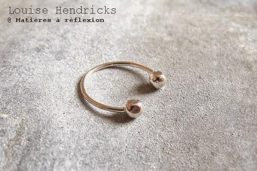 Bague bulles phalange argentée Louise Hendricks bijoux