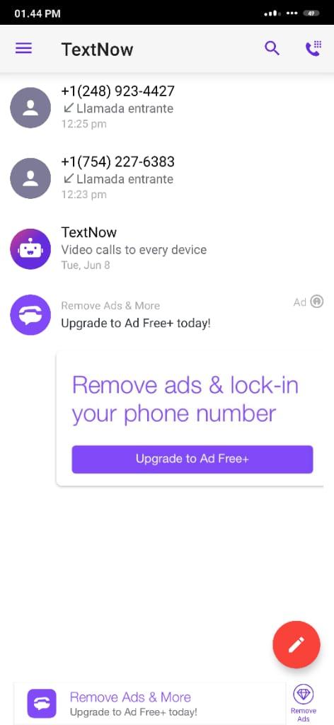 DESCARGAR TextNow V21.27.0.0 APK Gratis ULTIMA Versión 2021