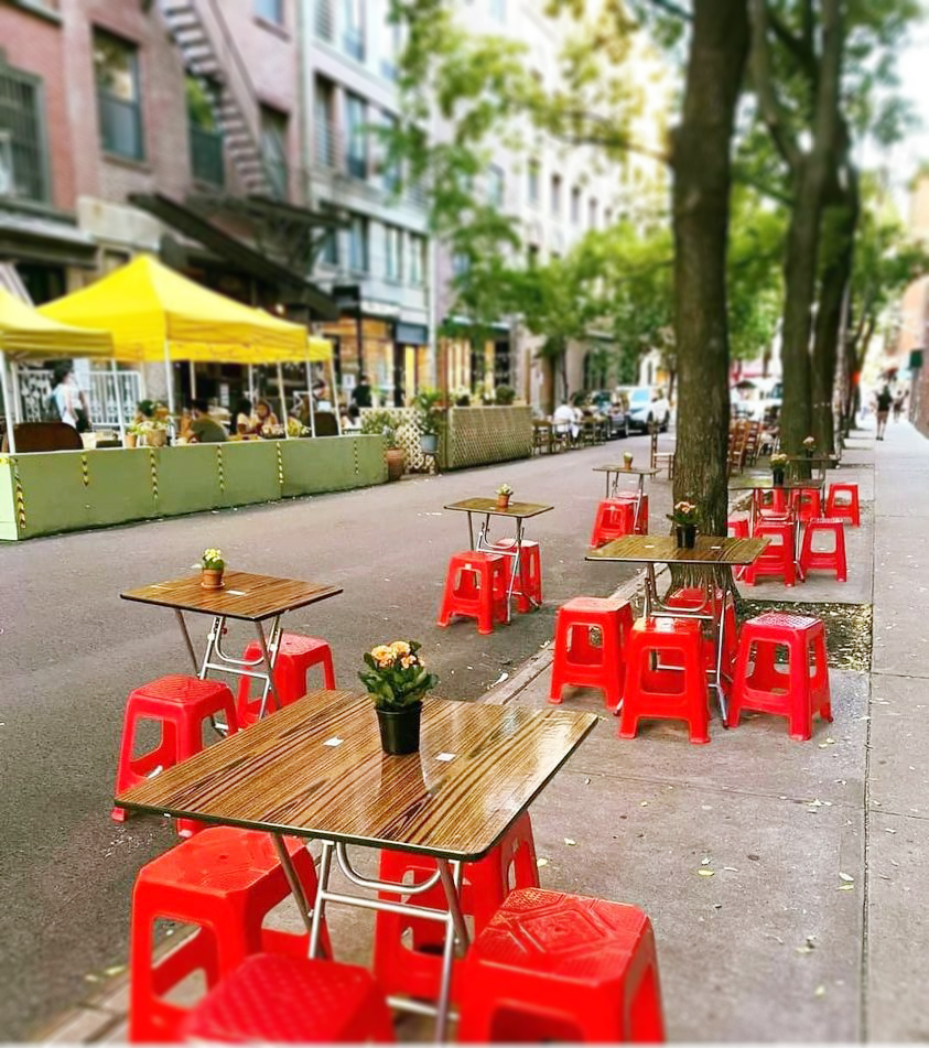 Góc chụp một quán ăn vỉa hè ở New York