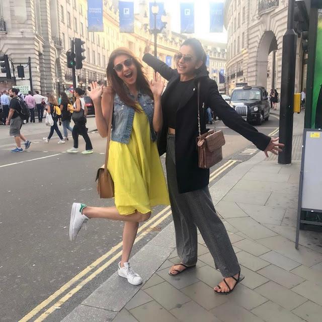 Kajal Agarwal, Rakul Preet Enjoying Holiday Trip in London