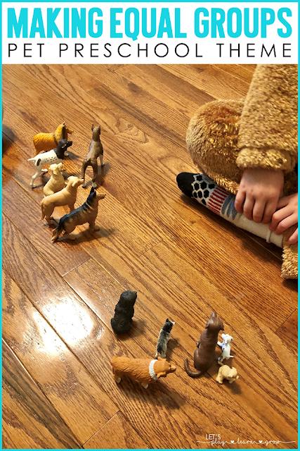 Making Equal Groups Preschool Pets