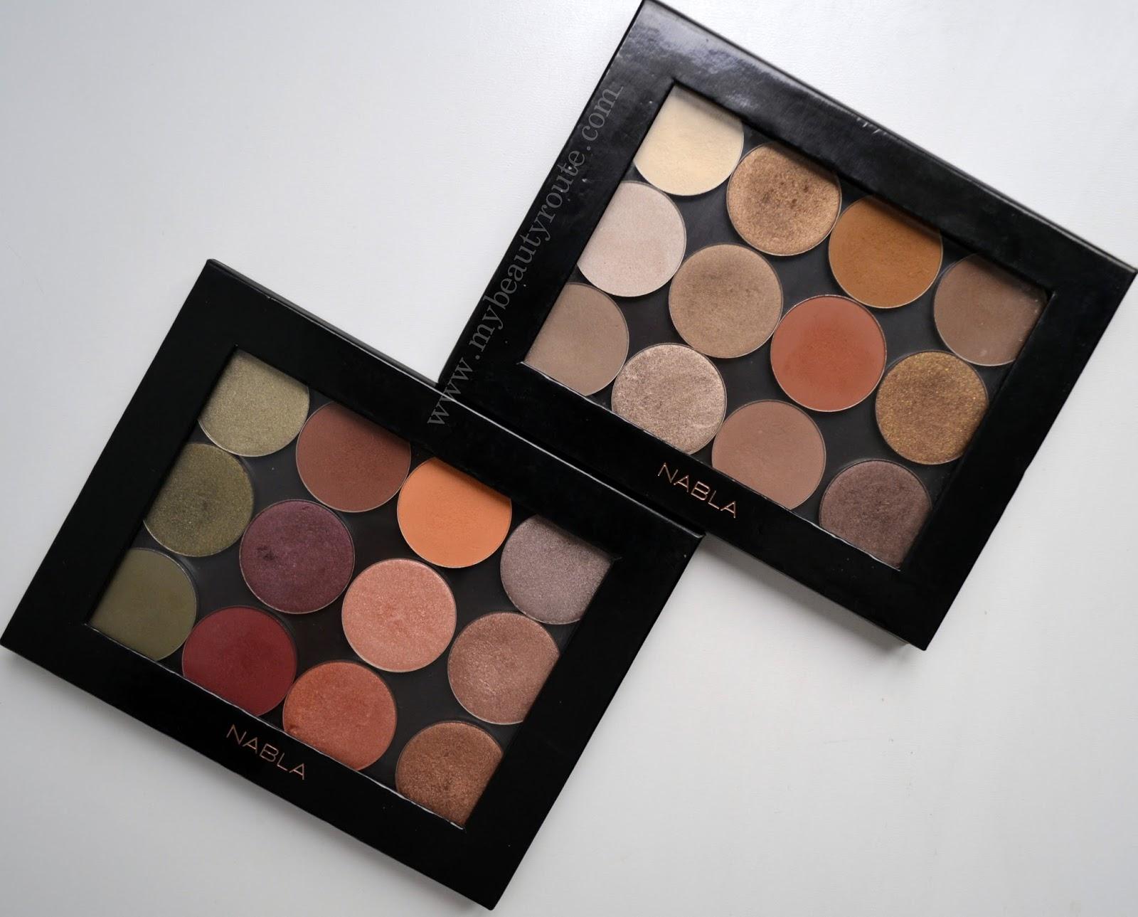 Paletas sombras de maquillaje tonos neutros Nabla cosmetics