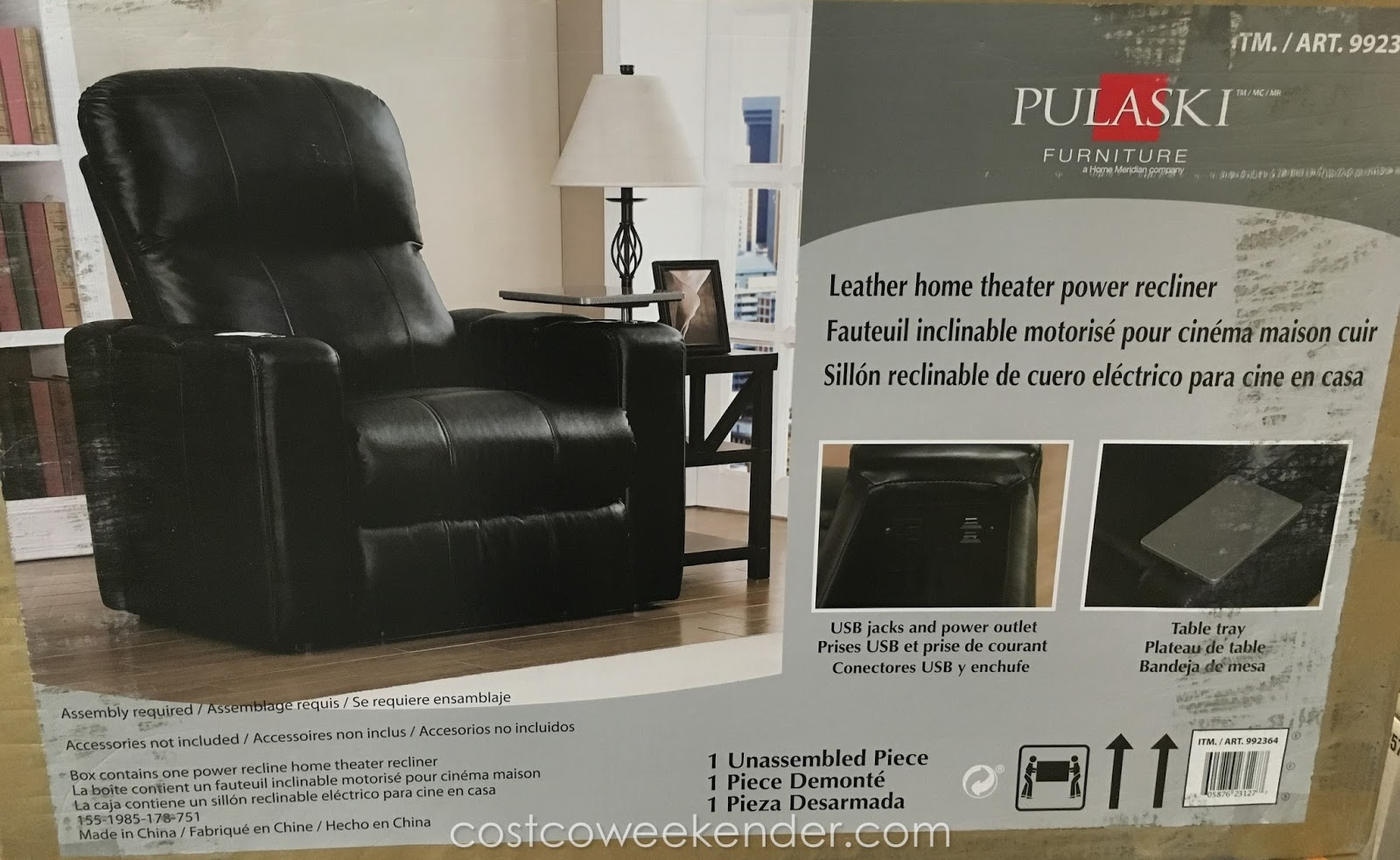 theater chairs costco office chair dwg pulaski furniture leather home power recliner