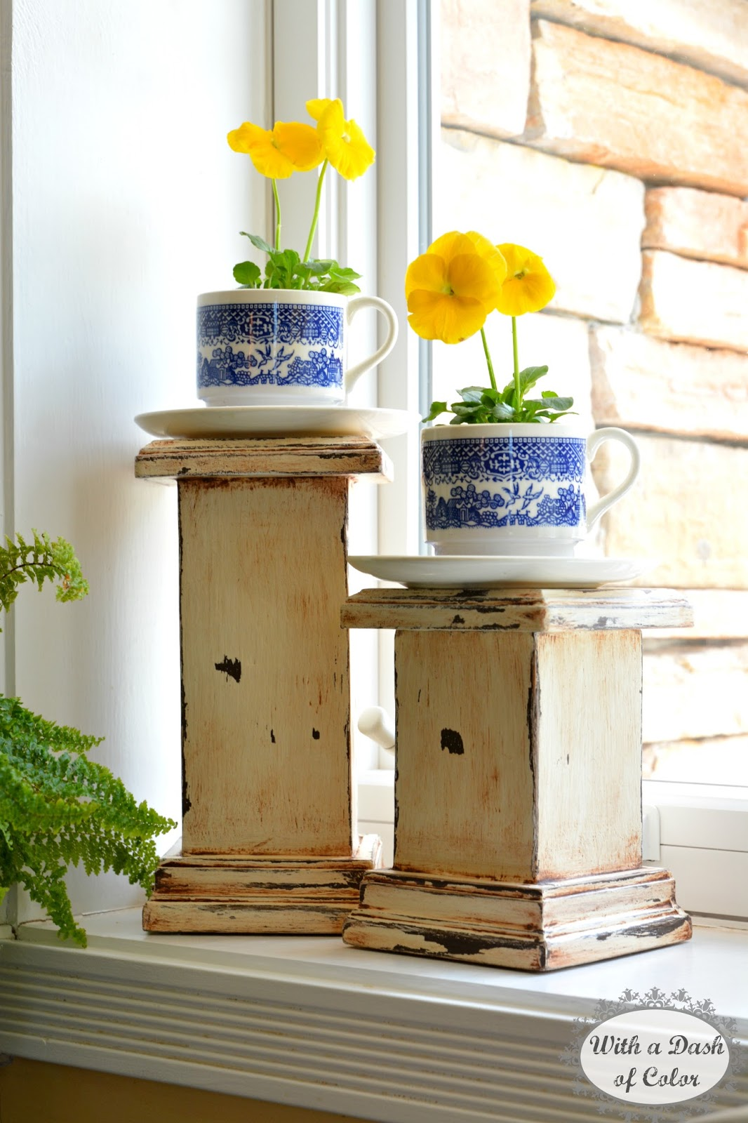 With A Dash Of Color: Decorating The Kitchen Window Sill