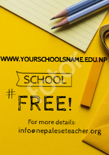 Free website for Schools in Nepal