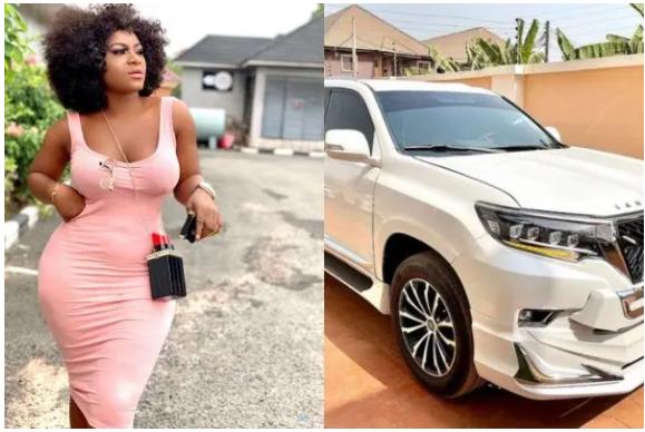 Nollywood actress, Destiny Etiko buys a Toyota Land Cruiser that worth N32million