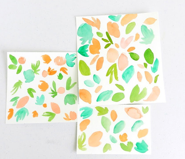 Watercolor Fruit Patterns by Elise Engh