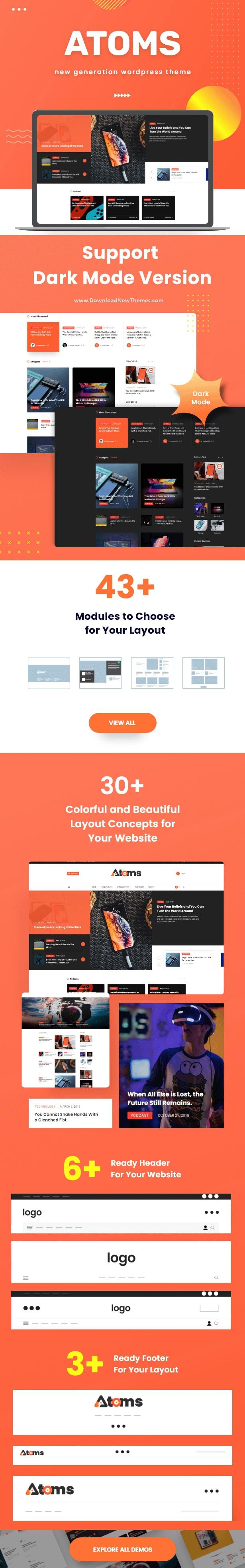 Atoms WordPress Magazine and Blog Theme