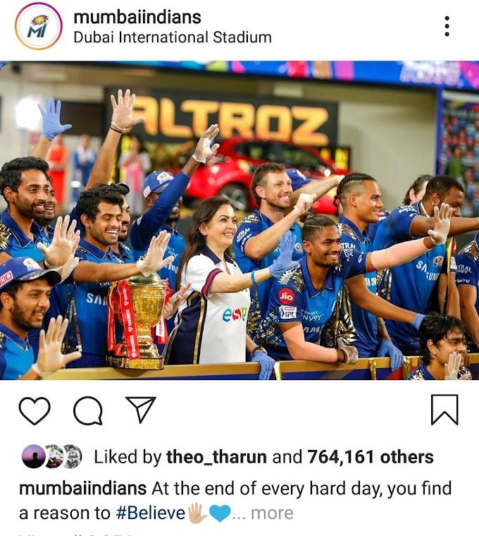 IPL champions Mumbai Indians get 20 crores, Delhi Capitals got this prize