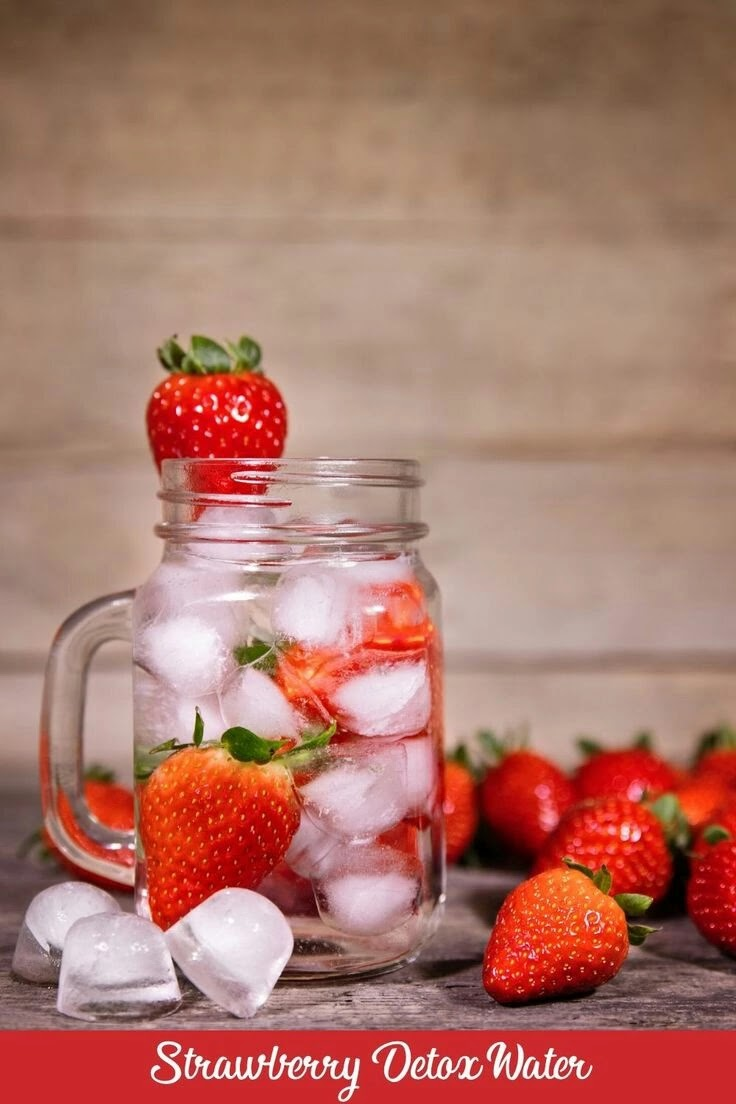 Fruits for detox water strawberry