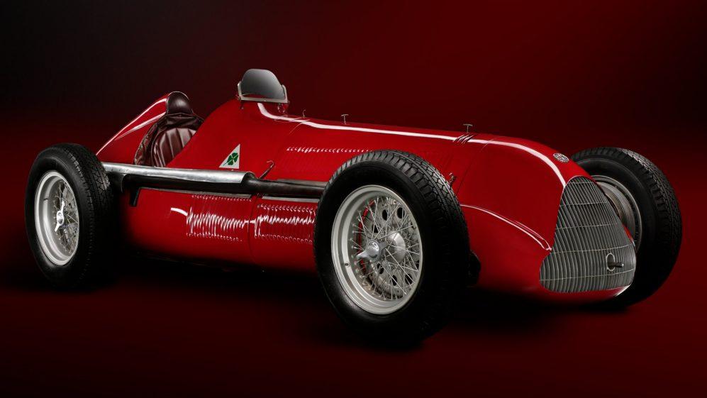 A Alfetta, com a qual a marca arrebatou a Fórmula 1 em 195051