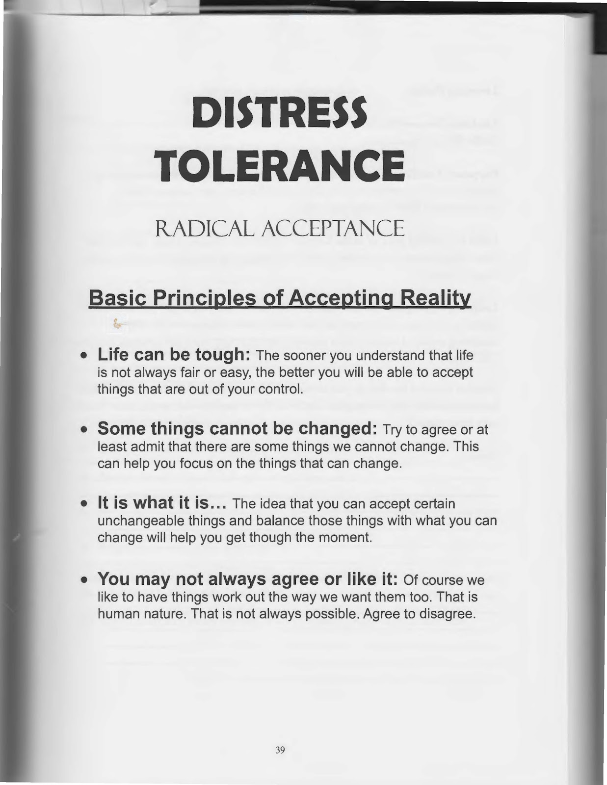 The Art Of Dialectical Behavior Therapy Distress Tolerance