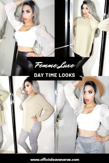 Beauty blogger Savana rae Wearing femme Luxe clothing