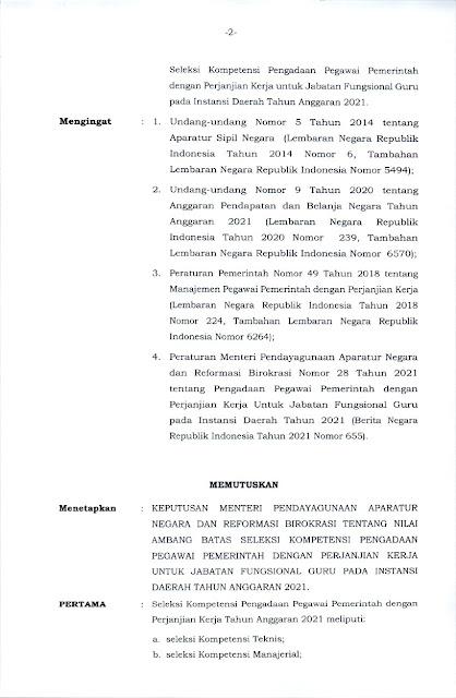 KEPMENPANRB 1127 TAHUN 2021 Halaman 2