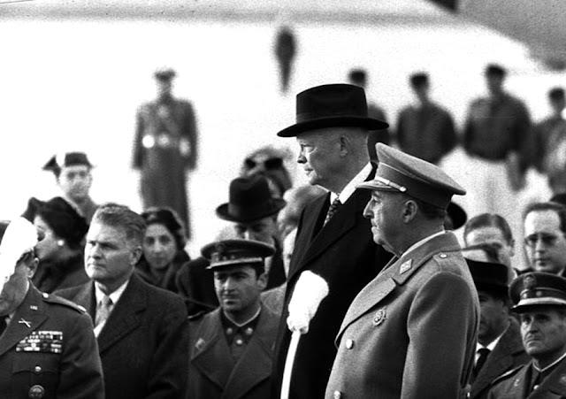 Franco i Eisenhower (1959) US National Archives