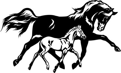 free creative running horse dxf - cnc world