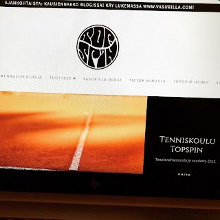 Tenniskoulu Topspin sivut uudistuivat!