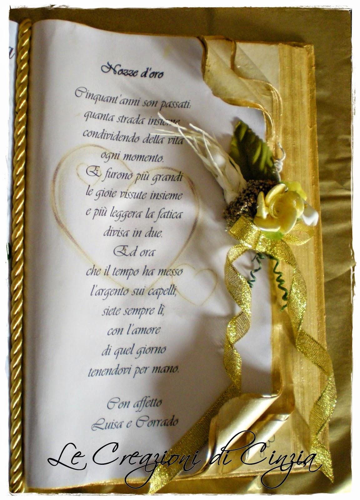 Le creazioni di cinzia nozze d 39 oro a for Idee regalo per venticinque anni di matrimonio