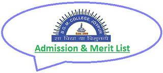 BGMC Joypur Merit List