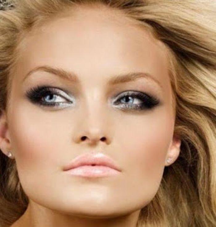 Shimmer Eye Makeup for Blue Eyes