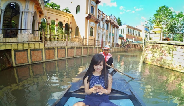 objek wisata Little Venice, Miniatur Venesia cianjur jawa barat