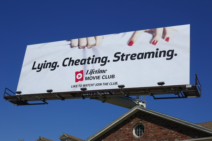 Lying Cheating Streaming Lifetime Movie Club billboard