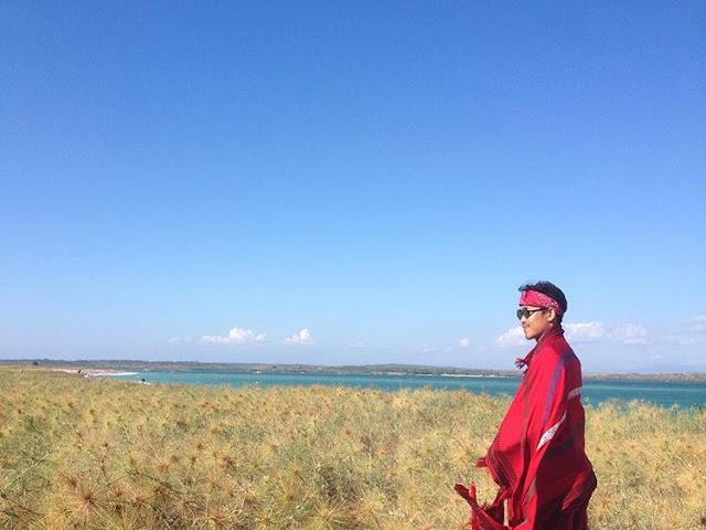 Pemandangan bagus di pantai Cemara Lombok, sumber ig @andreyess_