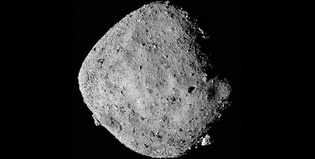 This mosaic image of the asteroid Bennu is composed of 12 PolyCam images collected by the OSIRIS-REx spacecraft from 15 miles away. An SwRI-led team is looking at the spectral data from the surface to better understand the composition of the asteroid. Courtesy of NASA/GSFC/University of Arizona
