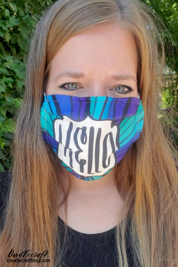 Here's how they fit, here's the folded premium mask: